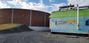 A picture of the Kline's Island Wastewater Treatment Plant biogas generator at Lehigh County Authority.