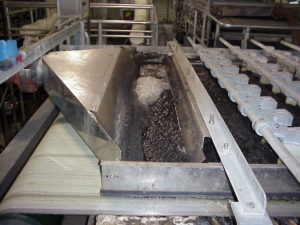 A dewatering belt filter press at Kline's Island Wastewater Treatment Plant, operated by LCA..