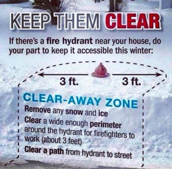 Image result for clearing snow from hydrants
